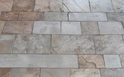 Fußboden aus Silberquarzit in Pfitsch