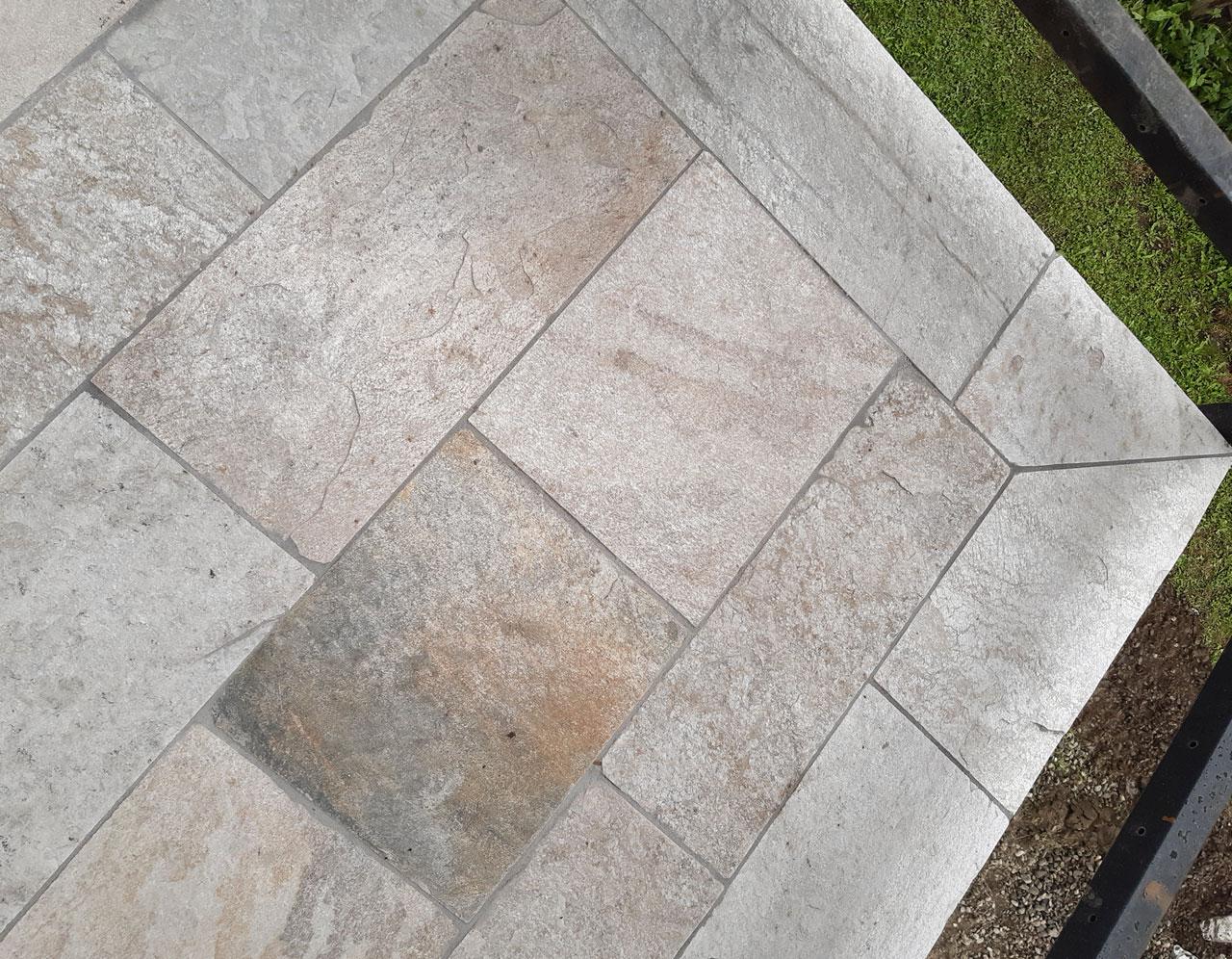 Niederkofler Bau, Natursteinverlegung, Bodenplatten, Silberquarzit, Pfitsch, 20200924-162738, Home, 1280x996px